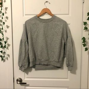 Aerie    Cropped Puffy Sleeve Crewneck